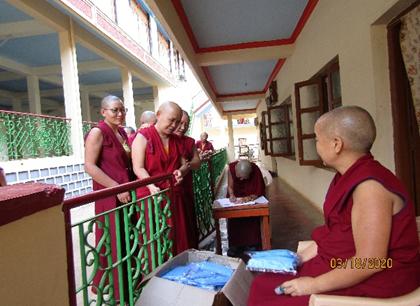 Tibet.de Nonnen Corona Schutzmasken