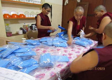 Tibet.de Nonnen Corona Schutzmaßnahmen