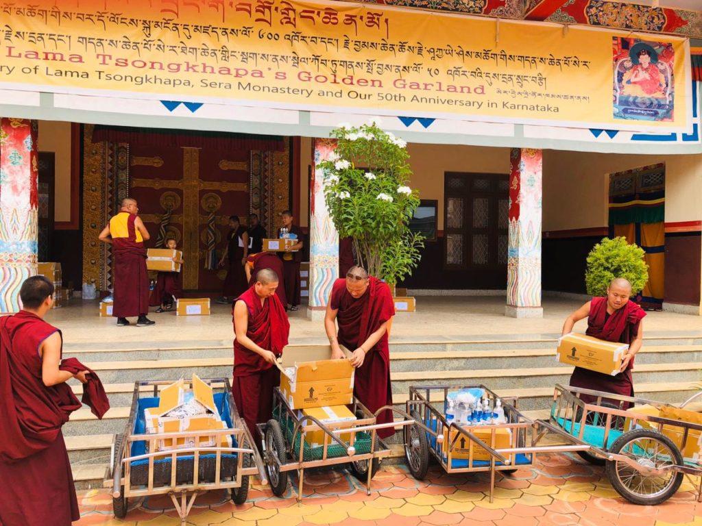Tibet.de Mönche Schule Covid 19